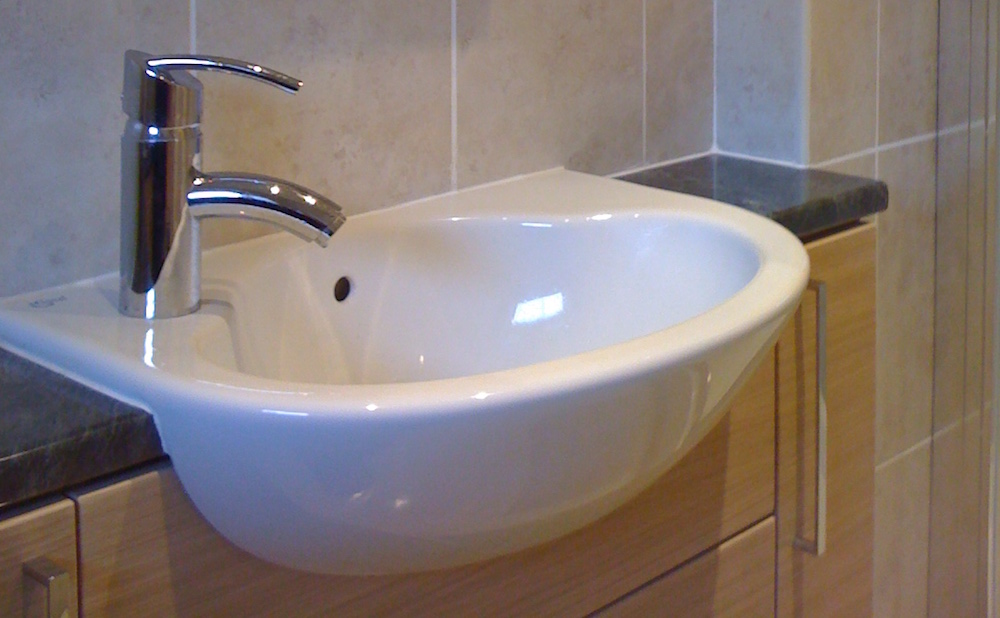 Close up of basin