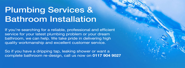 Text describing plumbing services & bathroom installation
