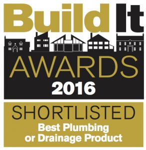 Build It Awards 2016 logo: Shortlisted for Best Plumbing or drainage product