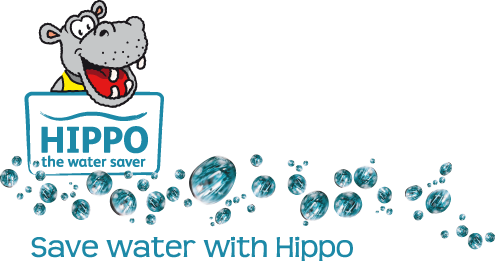 Hippo the water saver logo