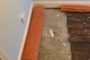 Mix of flooring types